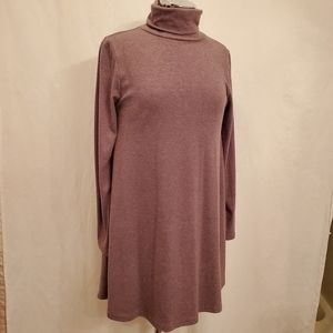 Brown Heather Turtleneck Tunic Dress EUC Sz S